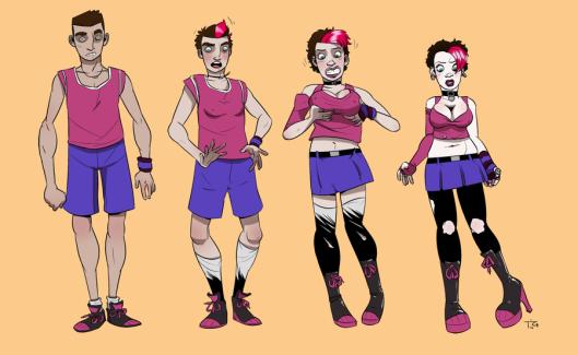 Transformación posible cuando un Punk hace deporte (ilustración de blackshirtboy, extraído sin permiso de deviantart.com)
